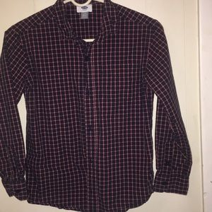 Old navy Boys long sleeve button down size 10-12